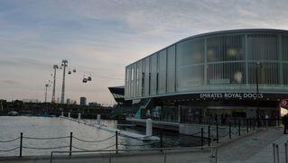 Olympische Spiele London 2012 #6 - London, Olympische Spiele, Emirate Royal Docks, Seilbahn, Gondelbahn, Luftseilbahn, Einseilumlaufbahn, linksfahrend, Greenwich, Docklands