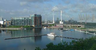 London #3 - London, Stadtteil, Docklands, Millennium Dome, Seilbahn, Emirates Royal Docks, Docks, Hafen, Geschäftszentrum