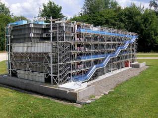 Centre Georges Pompidou - Centre Georges Pompidou, Museum, Kunst, Bibliothek, Paris, öffentlich, Gebäude, futuristisch, Glas, Beaubourg