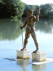 Die sieben antiken Weltwunder #4a - Bronzestatue, Sonnengott, Helios, Statue, Hafen, Rhodos, Antike, Weltwunder, Koloss