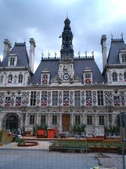 Rathaus von Paris - Rathaus, Paris, Frankreich, neoklassizistisch, Hôtel de Ville, Klassizismus, Fassade, Gebäude, Symmetrie