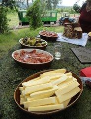 Winzervesper - Vesper, Imbiss, Snack, Käse, Wurst, Wein, Traktorfahrt, Weinberge, Sommertreffen, 2012