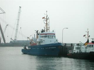 Forschungsschiff - Schiff, Boot, Helgoland, Forschung, Meer, Insel, Hafen, Uthörn, Meeresbiologie