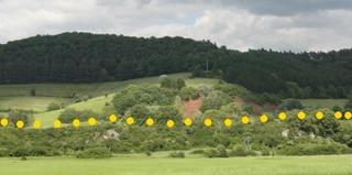 Geologie 1 - Grenze, Ablagerungen, Buntsandstein, Muschelkalk, Nordhessen, Sedimente, Germanische Trias, Trias, Erdzeitalter, Erdgeschichte, Mesozoikum.