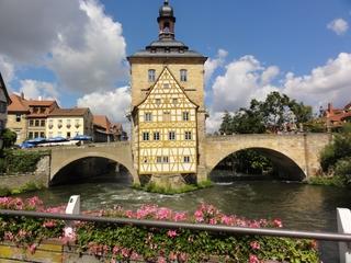 Bamberg - Bamberg, Franken, Regnitz, Unesco, Weltkulturerbe, Rathaus, Brücke, Barock