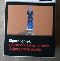 Warnhinweis auf türkischen Zigarettenpackungen#4 - Zigaretten, Zigarettenschachtel, Tabak, rauchen, gefährlich, Warnung, Hinweis, Warnhinweis, warnen, Gesundheit