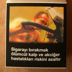 Warnhinweis auf türkischen Zigarettenpackungen #3 - Zigaretten, Zigarettenschachtel, Tabak, rauchen, gefährlich, Warnung, Hinweis, Warnhinweis, warnen, Gesundheit