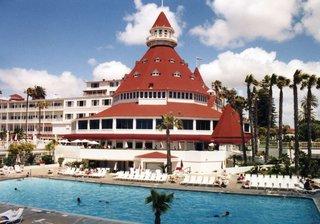 San Diego - Hotel del Coronado - Kegel, Kalifornien, California, rotes Dach, USA, Hotel