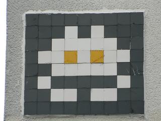 Space Invaders Paris #2 - Streetartist, Invader, Space Invaders, Paris, Computerspiel, Mosaik
