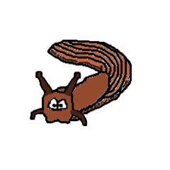 Nacktschnecke - Schnecke, Nacktschnecke, ohne Schneckenhaus, langsam, Weichtier, Tier, Cartoon, Zeichnung, Clipart