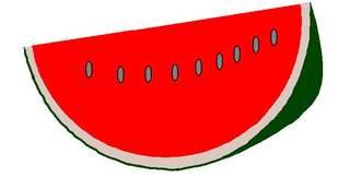 Melone als Stück - Melone, Melonen, Stück, Wassermelone, Kürbisgewächs, Frucht, Kern, Kerne, Anlaut M