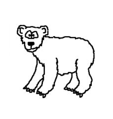 Bär - Bär, Braunbär, Grizzly, Meister Petz, bear, Pez, Wildtier, Zeichnung, Clipart