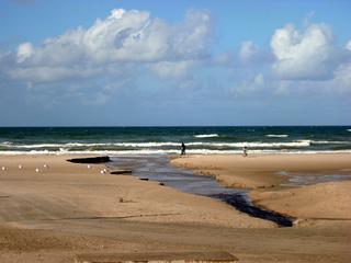 Priel #1 - Priel, Nordsee, Küste, Meer, Wasser, Strömung, Abriss, Abrisskante, Sand, Gefahr, Flut, Ebbe, Wellen