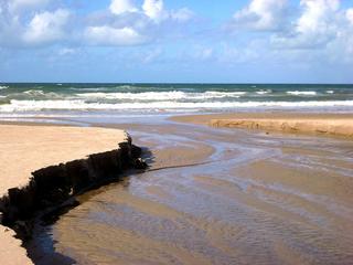 Priel#2 - Priel, Nordsee, Küste, Meer, Wasser, Strömung, Abriss, Abrisskante, Sand, Gefahr, Flut, Ebbe, Wellen