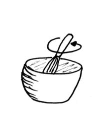 Waffeln backen - Bild 4 / 8 - Waffeln, Teig, backen, Bäckerei, Zutaten, zubereiten, Zubereitung, rühren, umrühren, Rezept, Vorgangsbeschreibung, Vorgang, Beschreibung, Schneebesen, Rührschüssel