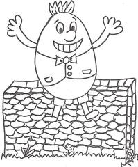 Humpty Dumpty - die Figur aus dem englischen Kinderreim - Humpty Dumpty, nursery rhyme, Kinderreim, Ei, Deutsch