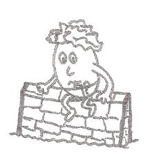 Humpty Dumpty (klein) - Humpty Dumpty, nursery rhyme, Kinderreim, Ei, Deutsch
