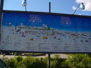 Plan der Weihnachtsstadt - Stadtplan, Weihnachtsstadt, Nordfinnland, Polarkreis, Plan, Wegbeschreibung