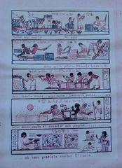 Herstellung von Papyros - Papyros, Papyrus, Anleitung, Beschreibstoff, Altertum, Papierersatz, organischer Werkstoff, altägyptische Schriftkultur, Buchgeschichte