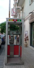 Telefonzelle # 01 - Post, Telefon, Fernsprecher, Kommunikation, öffentliche Telefonzelle, Telefonzelle, öffentlich, Telefonhäuschen, Fernsprechhäuschen, Fernsprechapparat, telefonieren