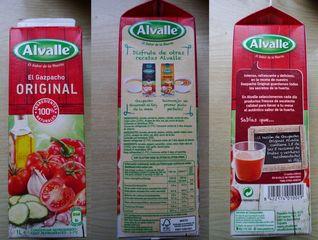 Gazpacho - Gazpacho, Packung, Verpackung, spanisches Gericht, Gemüsesuppe