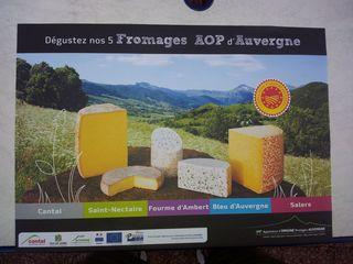 Reklametafel - Reklame, Tafel, fromages, Auvergne, Werbung, publicité, Käse
