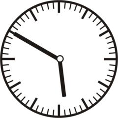 Uhrzeit 5.50 - 17.50 - Uhr, 10 Minuten vor, Uhrzeit, Zeit, Zeitspanne, Zeitpunkt, Zeiger, Mechanik, Zeitskala, Zeitgeber, Analoguhr, Zifferblatt, Ziffernblatt, rechtsdrehend, Uhrzeigersinn, Minute, Stunde, Kreis, Winkel, Grad, Mathematik, Größen, messen, time, clock, ermitteln, Zeitraum, Dauer, Frist, Termin, Zeitabschnitt