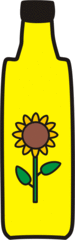 Öl - Öl, Anlaut Oe, Salatöl, Ölflasche, Sonnenblume