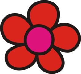 Blüte rot - Blütenblatt, Blütenblätter, Blume, Blumen, Garten, Wiese, Anlaut B