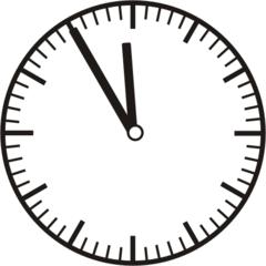 Uhrzeit 11.55 - 23.55 - Uhr, 5 Minuten vor, Uhrzeit, Zeit, Zeitspanne, Zeitpunkt, Zeiger, Mechanik, Zeitskala, Zeitgeber, Analoguhr, Zifferblatt, Ziffernblatt, rechtsdrehend, Uhrzeigersinn, Minute, Stunde, Kreis, Winkel, Grad, Mathematik, Größen, messen, time, clock, ermitteln, Zeitraum, Dauer, Frist, Termin, Zeitabschnitt