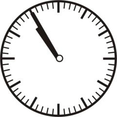 Uhrzeit 10.55 - 22.55 - Uhr, 5 Minuten vor, Uhrzeit, Zeit, Zeitspanne, Zeitpunkt, Zeiger, Mechanik, Zeitskala, Zeitgeber, Analoguhr, Zifferblatt, Ziffernblatt, rechtsdrehend, Uhrzeigersinn, Minute, Stunde, Kreis, Winkel, Grad, Mathematik, Größen, messen, time, clock, ermitteln, Zeitraum, Dauer, Frist, Termin, Zeitabschnitt
