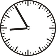 Uhrzeit 8.55 - 20.55 - Uhr, 5 Minuten vor, Uhrzeit, Zeit, Zeitspanne, Zeitpunkt, Zeiger, Mechanik, Zeitskala, Zeitgeber, Analoguhr, Zifferblatt, Ziffernblatt, rechtsdrehend, Uhrzeigersinn, Minute, Stunde, Kreis, Winkel, Grad, Mathematik, Größen, messen, time, clock, ermitteln, Zeitraum, Dauer, Frist, Termin, Zeitabschnitt