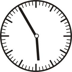 Uhrzeit 5.55 - 17.55 - Uhr, 5 Minuten vor, Uhrzeit, Zeit, Zeitspanne, Zeitpunkt, Zeiger, Mechanik, Zeitskala, Zeitgeber, Analoguhr, Zifferblatt, Ziffernblatt, rechtsdrehend, Uhrzeigersinn, Minute, Stunde, Kreis, Winkel, Grad, Mathematik, Größen, messen, time, clock, ermitteln, Zeitraum, Dauer, Frist, Termin, Zeitabschnitt