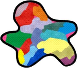 Farbfleck bunt - Farbe, Fleck, Anlaut F