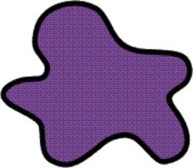 Farbfleck lila - Farbe, Fleck, Anlaut F, violett