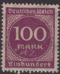 100 Mark Briefmarke - Mark, Inflation, inflationär, Geldentwertung, Wertverlust, 1923, Briefmarke, Deutsches Reich 100 Mark
