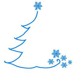 Grafik zur weihnachtlichen Illustration - blau, weihnachtlich, Fest, Gestaltung, gestalten, Illustration, Baum, Schneeflocke, Advent