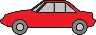 Auto rot - Auto, PKW, Personenwagen, fahren, Straße, Anlaut Au, Kraftfahrzeug, KFZ