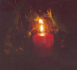 Kerze - Kerze, Licht, Nacht, Helligkeit, Abendstimmung, Stimmung, Wärme, Meditation, Flamme