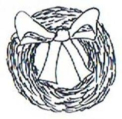 Kranz - Kranz, Weihnachten, Christmas, wreath, Türkranz, Illustration, Dekoration