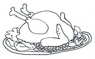 Truthahn - Truthahn, Pute, Weihnachten, Christmas, turkey, roast turkey, Illustration, Menü, Weihnachtsmenü