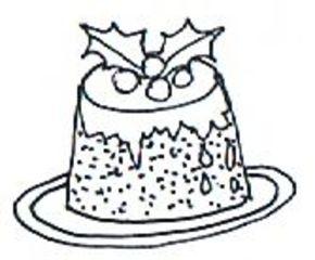 Plumpudding - Weihnachten, Advent, Christmas, Christmas pudding, plum pudding, Illustration, Christmas Pudding