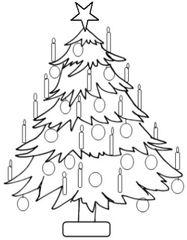 Weihnachtsbaum 3 - Weihnachtsbaum, Weihnachten, Advent, Stern, Christmas, Christmas tree, star, Christbaum, Wörter mit au, Wörter mit ei, Wörter mit ch