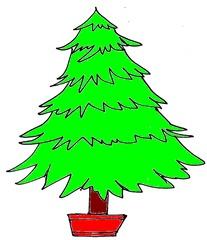 Weihnachtsbaum 5 - Weihnachtsbaum, Weihnachten, Christmas, Christmas tree, Christbaum, Tanne, Nadelbaum, Fichte