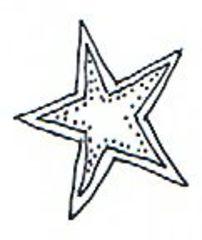 Stern - Stern, Weihnachten, Christmas, star, Weihnachtsstern, Prickvorlage, pricken