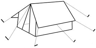 Zelt #1 - Zelt, Camping, Urlaub, wohnen, Zeichnung, Illustration, Ferien, Hauszelt, Anlaut Z