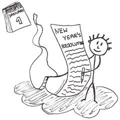 New Year's Resolution - New Year's resolutions, Vorsätze, Ziele, New Year, list, neues Jahr, Liste