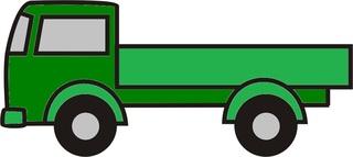 Lastwagen grün - Lastwagen, Auto, LKW, Anlaut L, Ladefläche, Ladung, Transport, transportieren, Laster