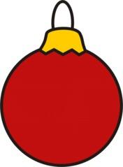 Christbaumkugel rot - Christbaumkugel, Kugel, Weihnachten, Weihnachtsschmuck, Baumschmuck, Christbaumschmuck, Anlaut K, Illustration