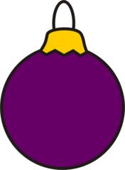 Christbaumkugel lila - Christbaumkugel, Kugel, Weihnachten, Weihnachtsschmuck, Baumschmuck, Christbaumschmuck, Anlaut K, Illustration